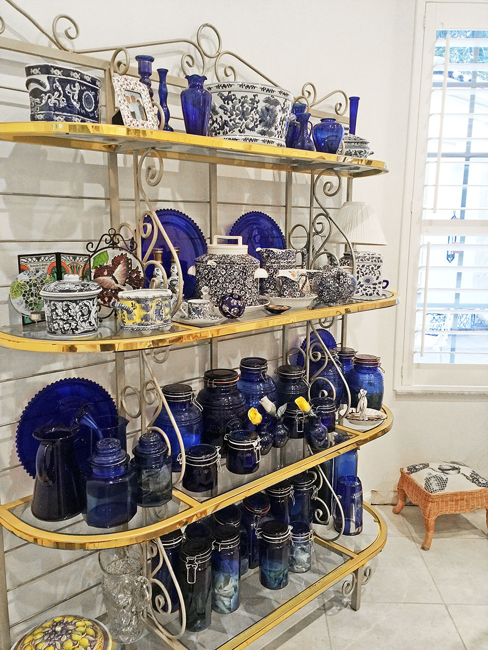 Blue Glassware Galore