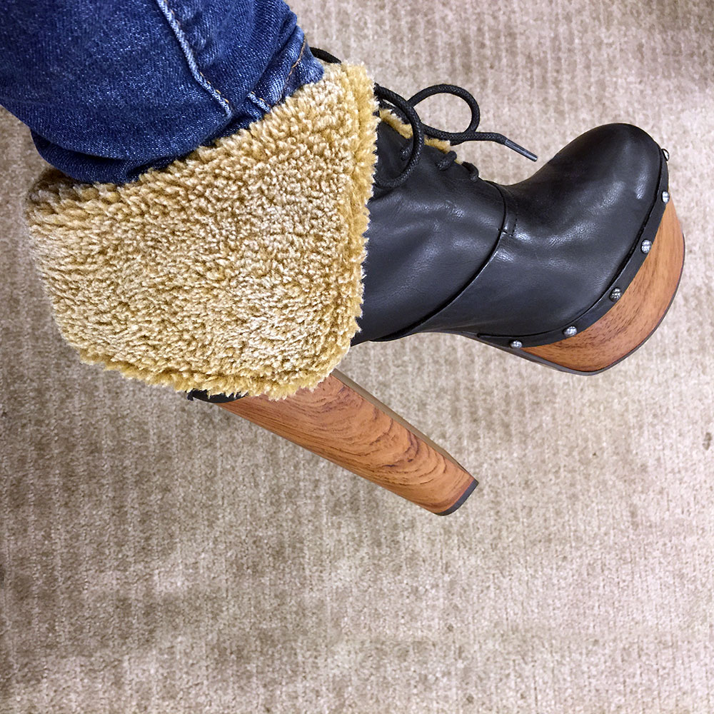 Jessica Simpson Daane Foldover Faux Shearling Booties