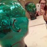Green Glass Head